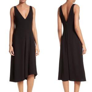 Theory Tadayon B Elevate Crepe Midi Dress Size 4